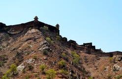 Unterirdischer Durchgang über aravali Bergen, Amer-Stadtstadtrand Jaipur Rajasthan Indien Lizenzfreies Stockfoto
