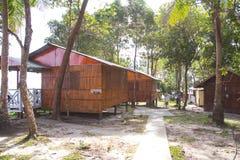 Unterkunft an den Tipps von Borneo, Sabah Malaysia stockfotos