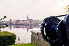 Unterlassung den historischen Hafen von blokzijl, Stockbild