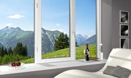 Unterlassung der Alpen Lizenzfreies Stockfoto
