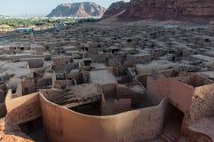 Unterlassung der alten Stadt von Al Ula, Saudi-Arabien Lizenzfreies Stockbild
