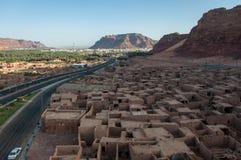 Unterlassung der alten Stadt von Al Ula, Saudi-Arabien Stockbild