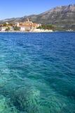 Unterlassung der alten Stadt von Korcula, Kroatien Lizenzfreies Stockbild