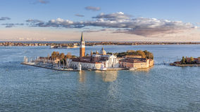 Unterlassung der Basilika San Giorgio in Venedig Stockbilder