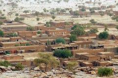 Unterlassung der Stadt von Hombori in Mali Stockbild