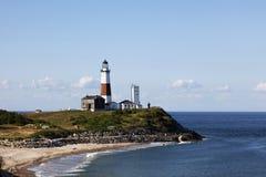 Unterlassung des Montauk-Punkt-Leuchtturmes Lizenzfreie Stockbilder