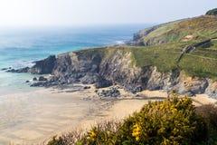 Polurrian Bucht Cornwall Lizenzfreies Stockfoto