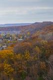 Unterlassungsautumn landscape von Niagara-steiler Böschung, Ontario Stockfotografie