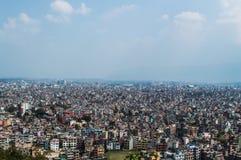 Unterlassungskathmandu vom Affe-Tempel, Nepal Lizenzfreies Stockbild