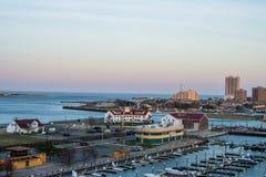 Unterlassungszustand Marina Harbor in Atlantic City, New-Jersey an stockfotografie