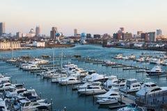 Unterlassungszustand Marina Harbor in Atlantic City, New-Jersey an lizenzfreie stockfotografie