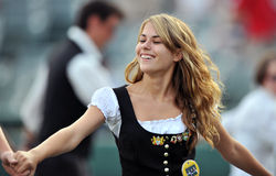 Unterliga-Baseball 2012 pregame - deutsche Nacht Stockfoto