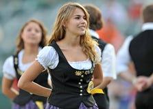 Unterliga-Baseball 2012 pregame - deutsche Nacht Stockbilder