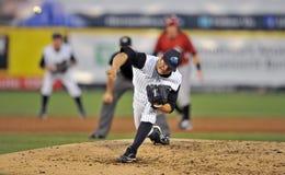 Unterliga-Baseballtätigkeit 2012 Stockbild
