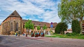 Unterlinden-Museum in Colmar in Elsass Frankreich Lizenzfreie Stockfotos