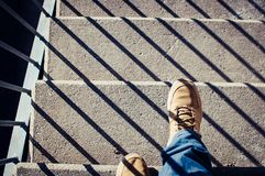 Unternehmen Sie einen Schritt lizenzfreies stockfoto