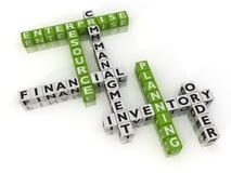 Unternehmens-Hilfsmittel-Planung Stockfotos