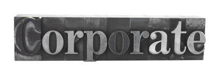 ?Unternehmens? im alten Metalltypen lizenzfreies stockbild