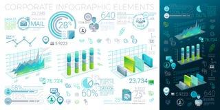 Unternehmens-Infographic-Elemente Stockbild