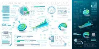 Unternehmens-Infographic-Elemente Lizenzfreies Stockfoto
