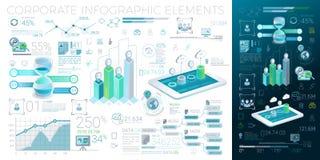 Unternehmens-Infographic-Elemente Stockfotos