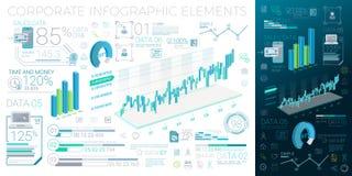 Unternehmens-Infographic-Elemente Lizenzfreie Stockfotografie
