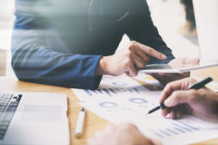 Unternehmensanalysesitzungs-Trainingsteam Lizenzfreie Stockfotografie