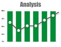 Unternehmensanalysesymbolikone und -diagramm Stockfotos