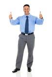 Unternehmensarbeitskraftdaumen oben lizenzfreie stockfotografie