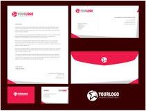Unternehmensbriefpapierschablonendesign mit Element-Farbe Lizenzfreie Stockfotos