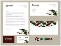 Unternehmensbriefpapierschablonendesign mit Elementen Stockfotos