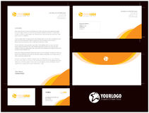Unternehmensbriefpapierschablonendesign mit Elementen Lizenzfreies Stockbild