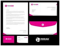 Unternehmensbriefpapierschablonendesign mit Elementen Lizenzfreie Stockfotografie