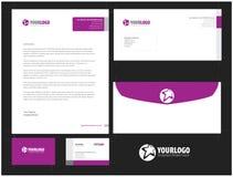 Unternehmensbriefpapierschablonendesign mit Elementen Lizenzfreies Stockfoto