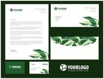 Unternehmensbriefpapierschablonendesign mit Elementen Stockfotografie
