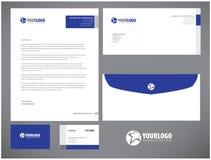 Unternehmensbriefpapierschablonendesign mit Elementen Lizenzfreie Stockfotos