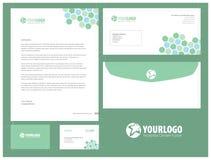 Unternehmensbriefpapierschablonendesign mit Elementen Lizenzfreie Stockbilder