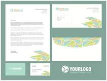 Unternehmensbriefpapierschablonendesign mit Elementen Stockbilder