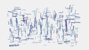 Unternehmenshandelshandelsintelligenz-Wortwolke Stockfotos