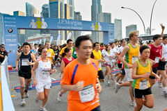 Unternehmensherausforderung 2011 Singapur-JP Morgan Lizenzfreies Stockbild