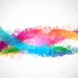 Unternehmenshintergrund des abstrakten Dreiecks des Geschäfts Lizenzfreie Stockbilder