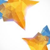 Unternehmenshintergrund des abstrakten Dreiecks des Geschäfts Stockbild