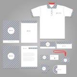 Unternehmensidentitä5s-Brandingschablone des Vektorbriefpapiers Stockbild