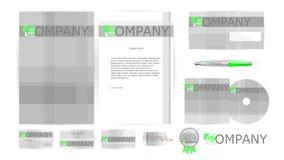 Unternehmensidentitä5s-Schablonen im Vektor Lizenzfreie Stockfotos