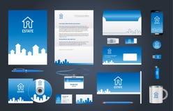 Unternehmensidentitä5sbrandingschablone der Immobilien Stockfotografie