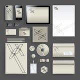Unternehmensidentitä5sschablone mit Farbelementen Vector Firmengeschäftsart für brandbook, Bericht und Richtlinie Briefpapier tem Stockbild