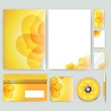 Unternehmensidentitä5sschablone mit Farbelementen Vector Firmengeschäftsart für brandbook, Bericht und Richtlinie Briefpapier tem Lizenzfreie Stockbilder