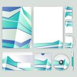 Unternehmensidentitä5sschablone mit Farbelementen Vector Firmengeschäftsart für brandbook, Bericht und Richtlinie Briefpapier tem Stockbilder