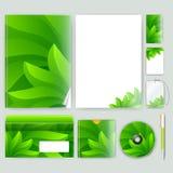 Unternehmensidentitä5sschablone mit Farbelementen Vector Firmengeschäftsart für brandbook, Bericht und Richtlinie Briefpapier tem Stockfotografie