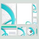 Unternehmensidentitä5sschablone mit Farbelementen Vector Firmengeschäftsart für brandbook, Bericht und Richtlinie Briefpapier tem Lizenzfreies Stockfoto